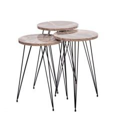 Tavolini da caffè marmo grigio Terek p182