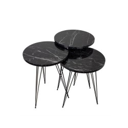 Tavolini da caffè marmo nero Terek p181