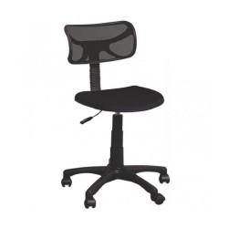 Sedia ufficio nera con ruote Dattilo