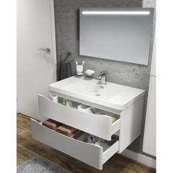 Mobile bagno sospeso bianco lucido 90x48x55 Lesina