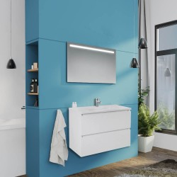Mobile bagno sospeso bianco lucido 80x46x54 H Carezza