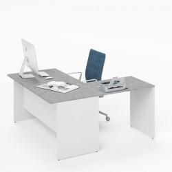 Prolunga 80 per scrivania cemento ibisco