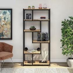 Libreria bifacciale in metallo Bookcase01