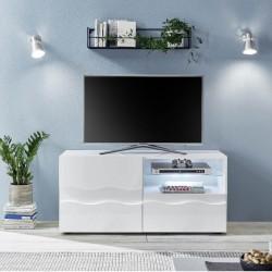 Mobile porta TV bianco lucido laccato Algarve 122x43x57H