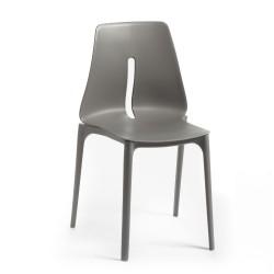 Sedia polipropilene grigio Oblong