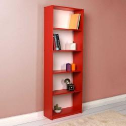 Libreria 5 scomparti adore ktp-150KS1 rosso