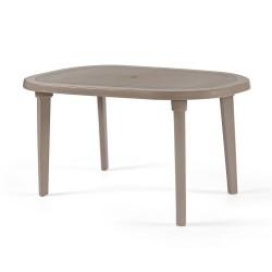 Tavolo ovale tortora da esterno 140x90 cm Braga