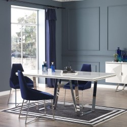 Tavolo bianco laccato lucido Enzio 195x95x78h
