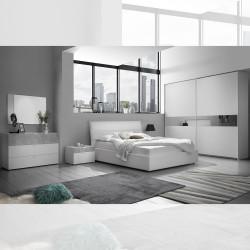 Camera da letto bianco opaco cemento Miyuki