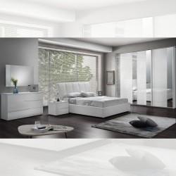 Camera da letto bianco laccato lucido Frozen