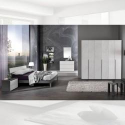 Camera da letto grigio cemento Manitoba