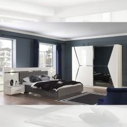 Camera da letto bianco lucido Rams