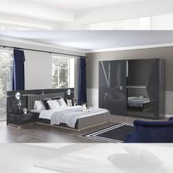 Camera da letto grigio lucido Rams